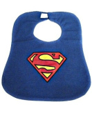 Monril Baby Bib in Fun Superman Design 1-3 Years Printed Style and hook and loop Fastening