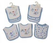 Nursery Time I love my mummy Blue Bibs - Pack of 3