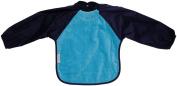 Silly billyz 4261106 Long Sleeve Bib Aqua and Navy Blue 18-36 Months