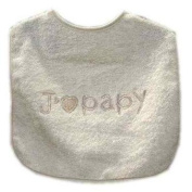 "Alteximex 9189944/1 Bib with French Phrase ""J'aime Papy"" (""I Love Grandad"") Ecru"
