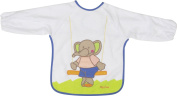Playshoes 35 X 30cm Long Sleeve Baby Bib with Elefant on the Back Foil Underlay