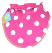 Dark Pink Polka Dot Dribble Bib