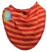Orange and Red Stripe dribble bib
