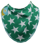Green with White Star Dribble Bib