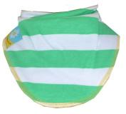 White and green stripes dribble bib