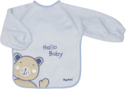 Playshoes 37 X 30cm Long Sleeve Baby Bib with Bear on the Back Foil Underlay