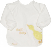 Playshoes 37 X 30cm Long Sleeve Baby Bib with Duck on the Back Foil Underlay