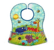 Jungle Animals' Adjustable Feeding Plastic Pelican Bib -- (1-Pack) -- 3 m+