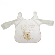 Baby Unisex Teddy Bear Design Long Sleeve Bib With hook and loop Mummy/Daddy Options (One Size)