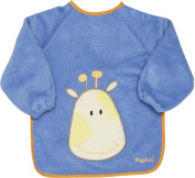 Playshoes 39 X 30cm Long Sleeve Baby Bib on the Back Foil Underlay