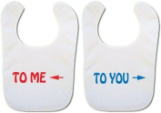 * Twin baby bibs* ' To me - To You' bibs