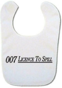 James Bond Licence to Spill Baby bib