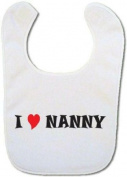 Bibble Dribble's I love Nanny baby bib