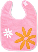 Baby Boum Triple Lined & Waterproof hook and loop Bib Pretty Petal design