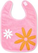 Baby Boum Triple Lined & Waterproof hook and loop Bib Pretty Petal design