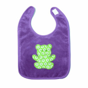 Baby Boum Triple Lined Small Pop hook and loop Bib 37cm - Purple Grape