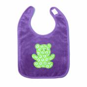 Baby Boum Triple Lined Small Pop hook and loop Bib 37cm - Purple Grape