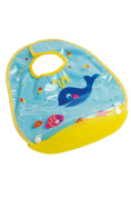 dBb-Remond 222020 Bib with Crumb Catcher 34 cm x 28.5 cm Whale Motif
