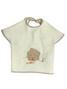 Big bib - Les Bébés d'Elyséa - Beige Rabbit - Baby clothes/ Gift for babies