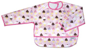 Ice Cream, Long Sleeve Large Waterproof Coverall with Flip Over Pocket, by Frenchie Mini Couture