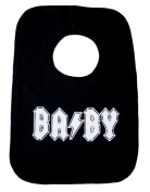 """BA/BY"" Black Bib with rockin' white print AC/DC Homage"