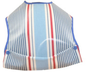 Cornish Daisy Red White and Blue Striped Pod Feeding Bib