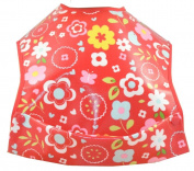 Cornish Daisy Retro Red Flower Pod Feeding Bib