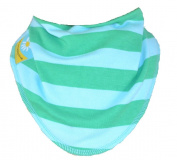 Turquoise and green Stripe Dribble Bib