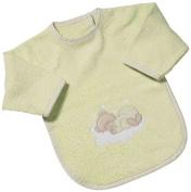 Easy Baby 362-84 Bib with Sleeves Sleeping Bear Green