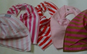 Premier Baby Bandana Bibs GIRLS (mixed colours) x 5 PACK