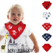 Pirates set of 5 Funky Giraffe Bandana Bibs