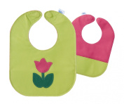 Green Tulip Leather Bib