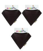 Dribble-Ons Bandana Bib - Black - ** 3 PACK *.