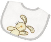 Be Be's Collection - bib - bunny - grey 24x28