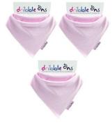 Dribble-Ons Bandana Bib - Baby Pink - ** 3 PACK *.