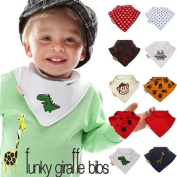 Monkey Set of 10 Bandana bibs