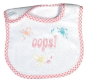 Dee Givens & Co-Raindrops 6010 Oops Embroidered Ex-Small Bib - Pink