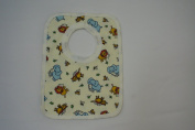 Printed Pop over bib with elephant and tiger design