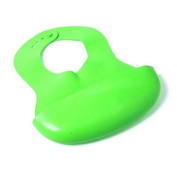Mammoth XT Adjustable Feeding Rubber Pelican Bib -- Green (1-Pack) -- 6 m+