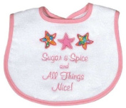 Dee Givens & Co-Raindrops A35135 Sugar and Spice Appliqued Small Bib - Pink