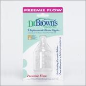BPA FREE Dr Browns NARROW PREEMIE TEATS 3 PK - BISPHENOL A FREE