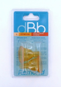 dBb Remond 144000 Pack of 2 Rubber Teats with Off-Centre Opening with Air Regulations