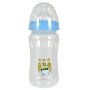 Official Manchester City FC Baby Feeding Bottle - A great gift / present for babies, toddlers for Christmas, Birthdays, Christenings or just as a treat for and avid football fan