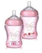 Nuby Natural Touch NT68008 Softflex Polypropylene Feeding Bottle 240 ml Pink