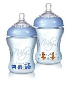 Nuby Natural Touch NT68007 Softflex Polypropylene Feeding Bottle Blue 240 ml