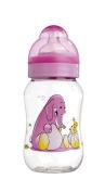 dBb Remond 129100 Lo Tritan BPA-Free Feeding Bottle Silicone Teat Elephant Print 0-4 Months Transparent 240 ml