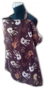 Palm and Pond Breastfeeding Cover - Hand Print