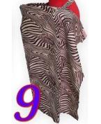 Palm and Pond Breastfeeding Cover - Brown Zebra Standard