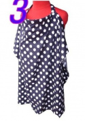 Palm and Pond Breastfeeding Cover - Navy Blue & White Spots Standard