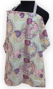Palm and Pond Breastfeeding Cover - Purple Paisley Large